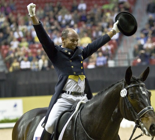 Steffen Peters and Ravel winning the FEI World Cup Final Grand Prix. Photo: Ken Braddick