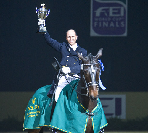 Will there be enough World Cup shows on West for Steffen Peters & Ravel to defend their title. © 2009 Ken Braddick
