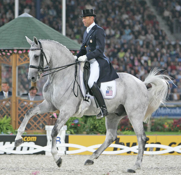 Günter Seidel riding Jane and Dick Brown's Aragon at the 2006 World Equestria Games in Aachen, Germany. ©Ken Braddick/dressage-news.com