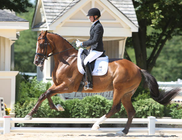 Silva Martin riding Aesthete at the U.S. six-year-old championships in 2011. ©  Ken Braddick/dressage-news.com