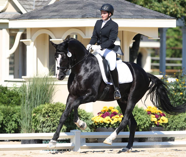 Emily Wagner riding Wakeup in U.S. Young Horse Championships. © Ken Braddick/dressage-news.com