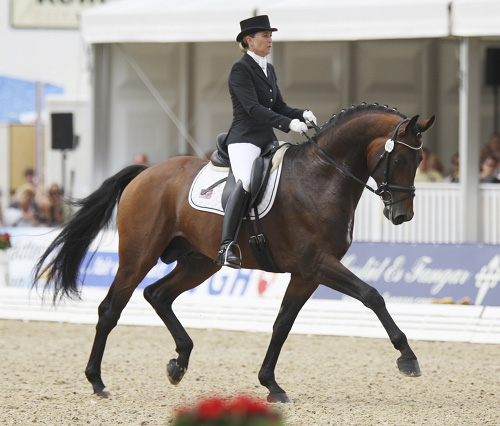 Jennifer Hoffmann and Florentinus V. File photo © Ilse Schwarz/dressage-news.com