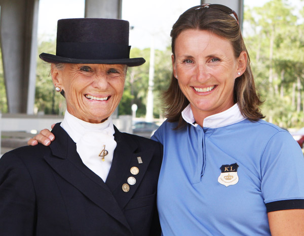 Janne Rumbough and Mikala Münter Gundersen. © Ken Braddick/dressage-news.com