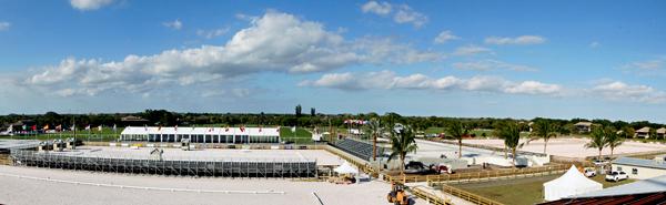 Global Dressage Festival grounds at Palm Beach International Equestrian Center's Stadium complex . ©Ken Braddick/dressage-news.com
