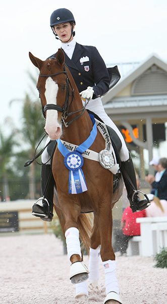 USA's Caroline Roffman on Pie, top scoring combination qualifying for Nations Cup. © 2012 Ken Braddick/dressage-news.com