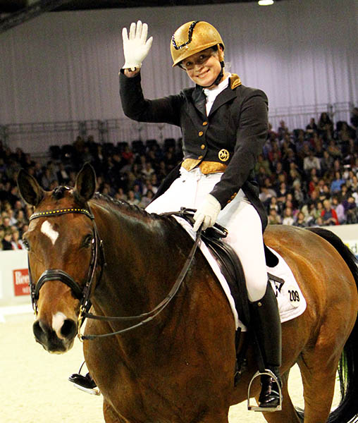 Isabell Werth and El Santo NRW. © 2012 Ken Braddick/dressage-news.com