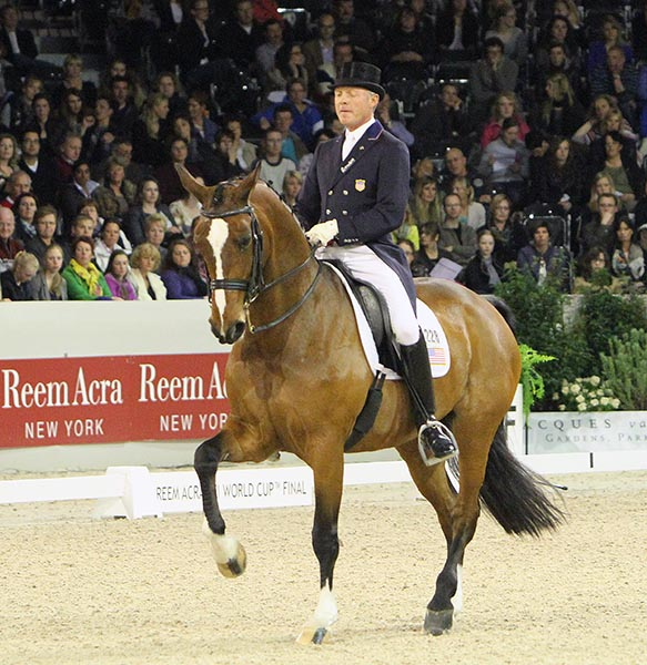 Jan Ebeling on Rafalca in their third World Cup Final at Leipzig, Germany in 2012. © Ken Braddick/dressage-news.com