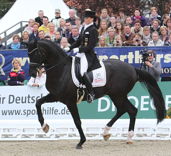 Kristina Sprehe and Desperados. © Ken Braddick/dressage-news.com