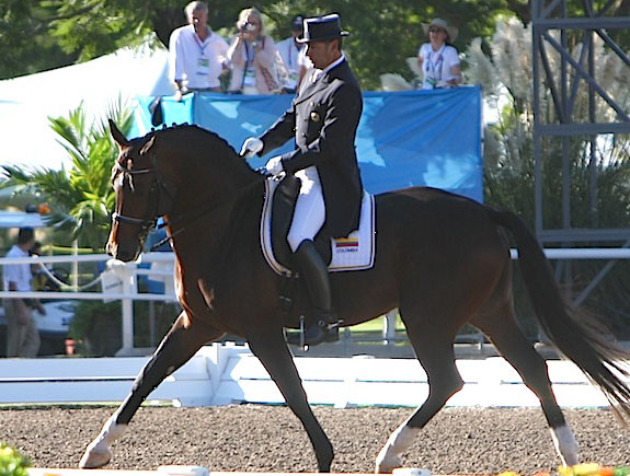 Marco Bernal and Farewell. © Ken Braddick/dressage-news.com