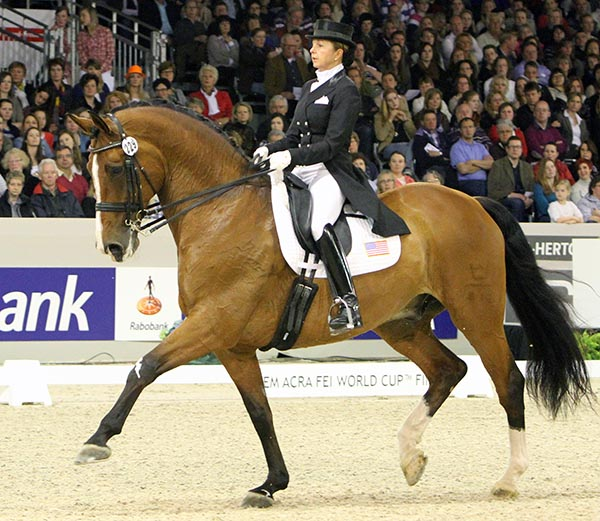 Shawna Harding and Come On III at the 2012 World Cup Final. © Ken Braddick/dressage-news.com