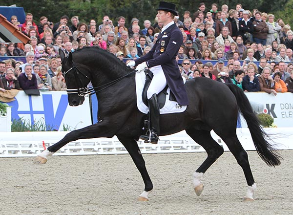 Totilas ridden Matthias Alexander Rath at Hagen, Germany, their only CDI in the past year. © 2012 Ken Braddick/dressage-news.com