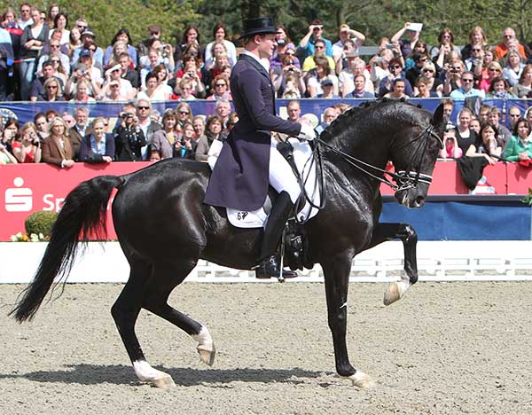 Matthias Alexander Rath and Totilas in 2012. their last CDI before health issues to horse and rider took them out of competitionin. © Ken Braddick/dressage-news.com