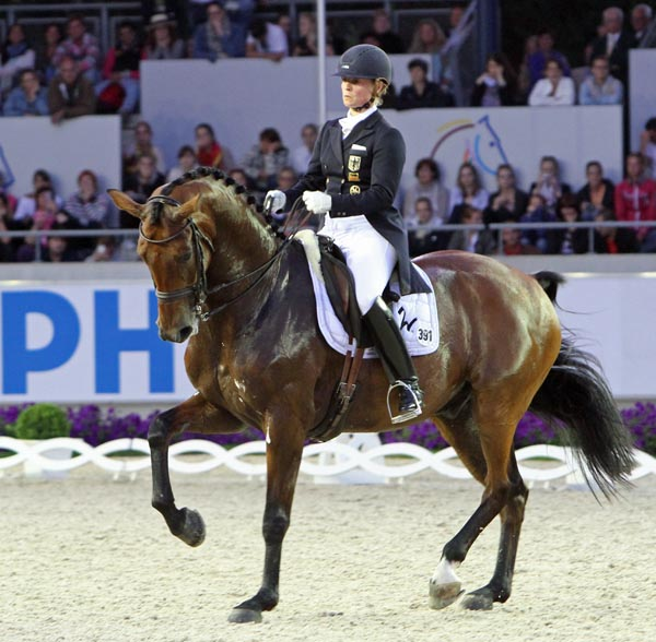 Isabel Werth and Don Johnson. © Ken Braddick/dressage-news.com