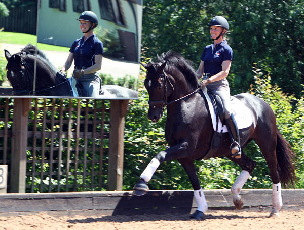 Alcazar being ridden by Katherine Bateson-Chandler at the English training center of Car Hester shortly after Jane Clark acquired the horse in 2012. © Ken Braddick/dressage-news.com