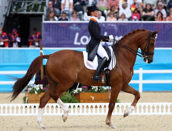 Adelinde Cornelissen and Parzival at last summer's Olympic Games in London. © 2012 Ken Braddick/dressage-news.com