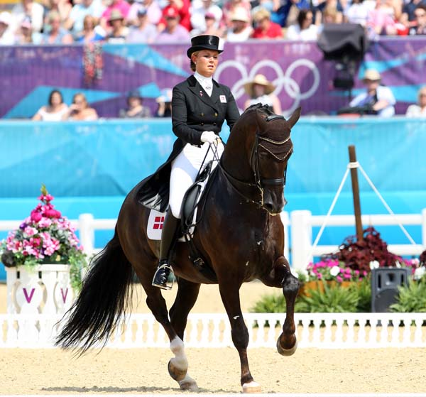 Denmark's Anna Kaspazrak and Donnperignon, one of the world's top 20-somethings at the 2012 Olympics in London. © Ken Braddick/dressage-news.com