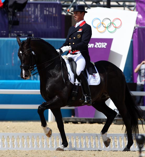 Carl Hester and Uthopia at the 2012 Olympic Games. © 2012 Ken Braddick/dressage-news.com