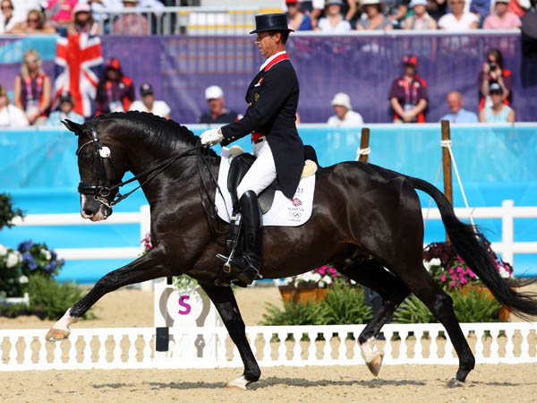 Carl Hester and Uthopia at the 2012 Olympic Games. ©2012 Ken Braddick/dressage-news.com