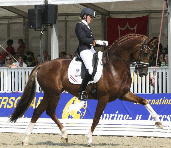 Charmeur and Emmelie Scholtens returning to World Championships. © Ilse Schwarz/dressage-news.com