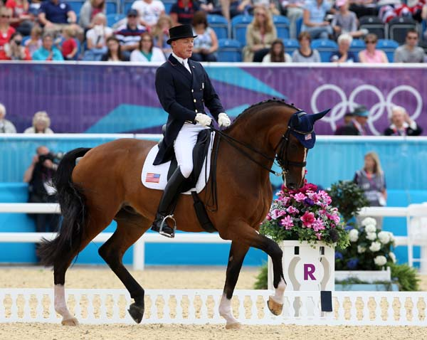 Jan Ebeling riding Rafalca for the United States at the Olympic Games in London in 2012. © Ken Braddick/dressage-news.com