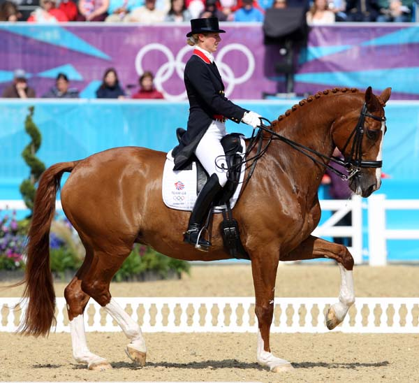 Laura Bechtolsheimer and Mistral Hojris produced piaffe and passage for which they are legendary. © 2012 Ken Braddick/dressage-news.com