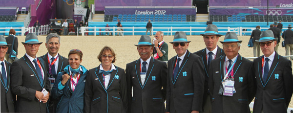 The ground jury and officials at the London Olympics in 2012. ©  Ken Braddick/dressage-news.com
