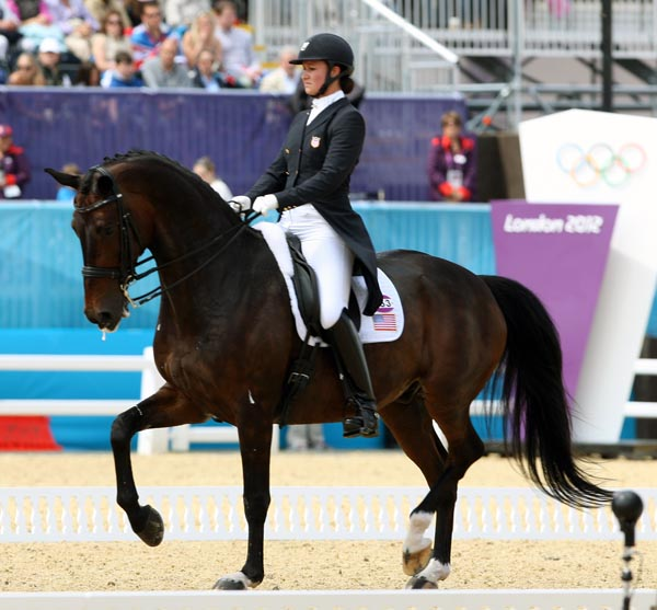 Adrienne Lyle and Wizard at the Olympic Games in London. © 2012 Ken Braddick/dressage-news.com