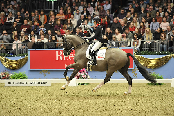 Charlotte Dujardin and Vslegro in the World Cup Grand Prix Freestyle at Olympia. © 2012 FEI/Kit Houghton