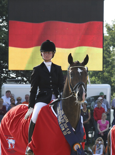 Sa Coeur with Eva Möller aboard at the five-year-old world championships. ©2012 Ilse Schwarz/dressage-news.com