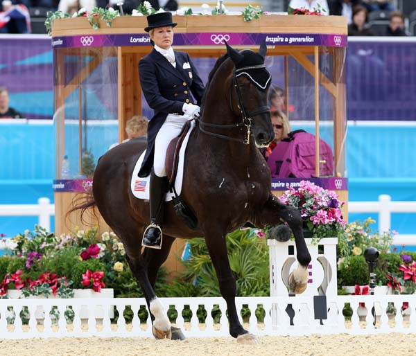 Tina Konyot and Calecto V competing at the 2012 London Olympic Games. © Ken Braddick/dressage-news.com