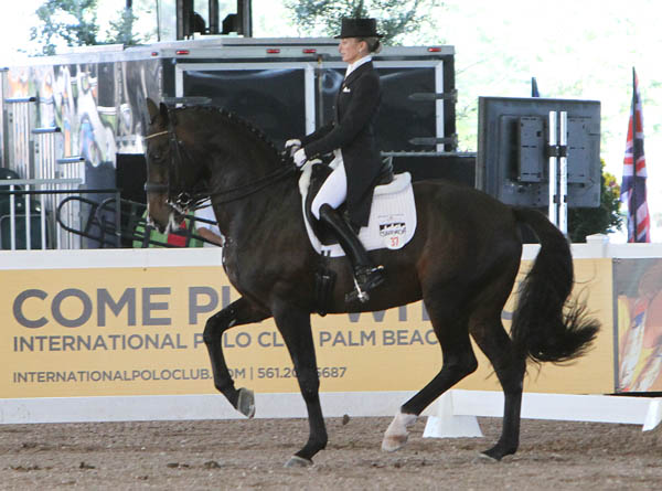 Lisa Wilcox and Pikko Del Cerro HU. © 2013 Ken Braddick/dressage-news.com
