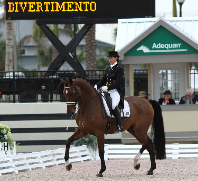 Tinne Vilhelmsson-Silfvén and Divertimento. © 2013 Ken Braddick/dressage-news.com