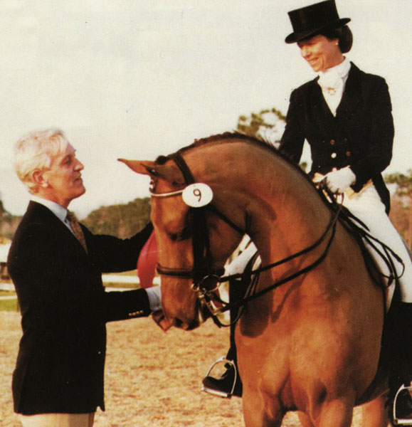 Anne Gribbons at Palm Beach Dressage Derby. Photo Courtesy Janne Rumbaugh Archives