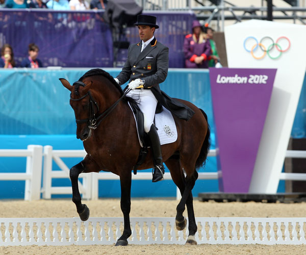 Daniel Martin Dockx and Grandioso at the 2012 Olympics in London. © Ken Braddick/dressage-news.com