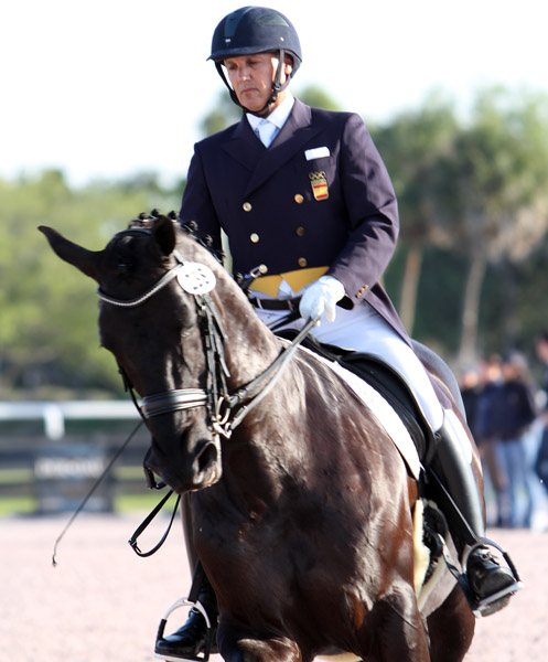 Juan Matute and Don Diego competing at Wellington, Florida. © 2013 Ken Braddick/dressage-news.com