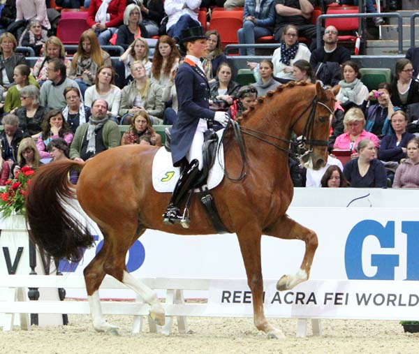 Adelinde Cornelissen and Jeich Parzival, the most prolific producer of 80 per cent Grand Prix scores and over the longest period of five years. © 2013 Ken Braddick/dressage-news.com