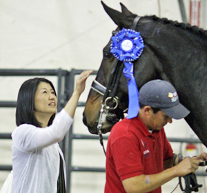 Akiko Yamazaki, the owner who brought Ravel to the United States for Steffen Peters to compete, at the 2009 World Cup Final in Las Vegas. © Ilse Schwarz/dressage-news.com