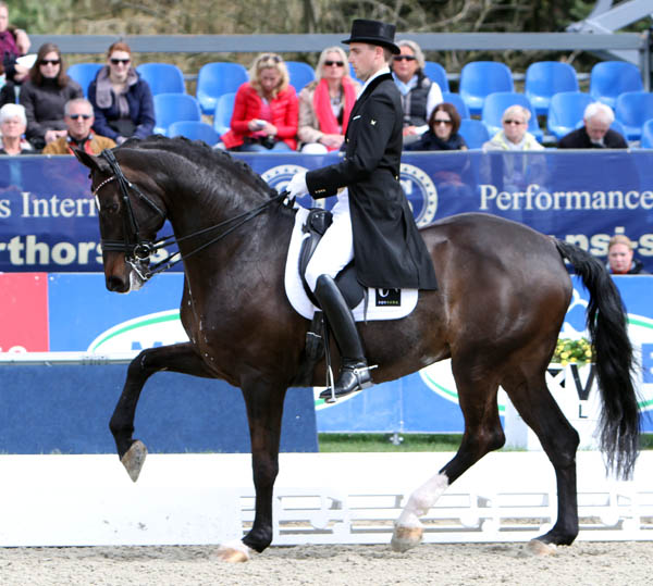 Andreas Helgstrand and Akeem. © 2013 Ken Braddick/dressage-news.com