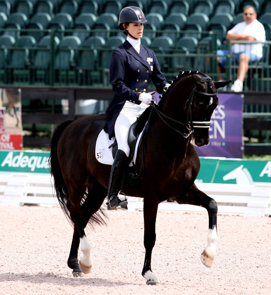 Caroline Roffman and Sagacious HF completing the Young Rider Grand Prix. at the Global Dressage Festival CDI5*. © 2013 Ken Braddick/dressage-news.com