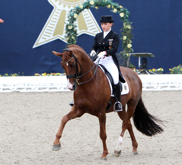 Charlott-Maria Schürmann and Burlington. © 2013 Ken Braddick/dressage-news.com