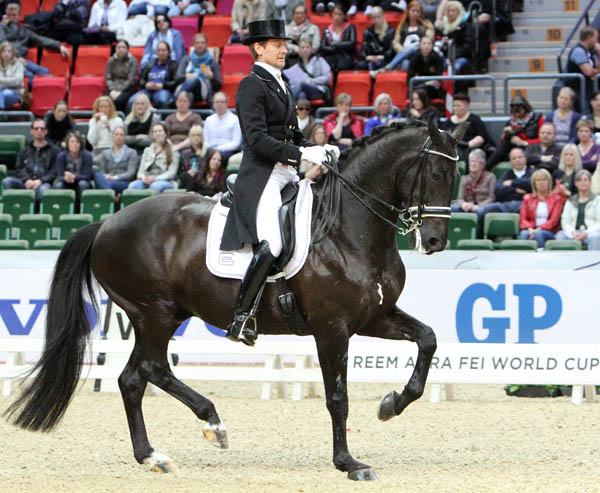 Edward Gal and Glock's Undercover, the black gelding that is making the pair a contender for a World Cup title. Their only previous World Cup Final victory was in 2010 aboard the black stallion Totilas. © 213 Ken Braddick/dressage-news.com