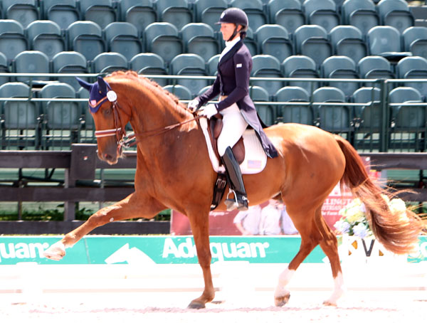 Heather Blitz and Paragon. © 2013 Ken Braddick/dressage-news.com