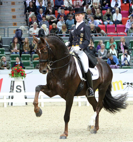Helen Langehanenberg and Damon Hill NRW. © 2013 Ken Braddick/dressage-news.com