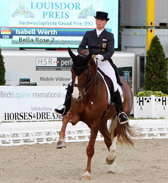 Bella Rose with Isabell Werth. © 2013 Ken Braddick/dressage-news.com