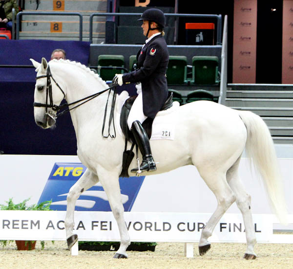Jacqueline Brooks riding D Niro in the World Cup Final Grand Prix. © 2013 Ken Braddick/dressage-news.com