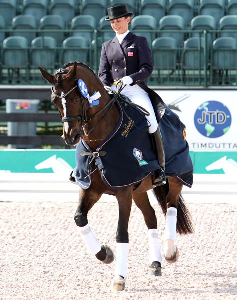 Mikala Gundersen and My Lady after winning Wellington 5* Grand Prix Special. © 2013 Ken Braddick/dressage-news.com