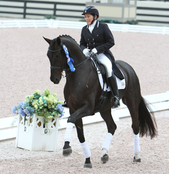 Shelly Francis and Danilo during their successful 2013 Florida winter circuit. © 2013 Ken Braddick/dressage-news.com