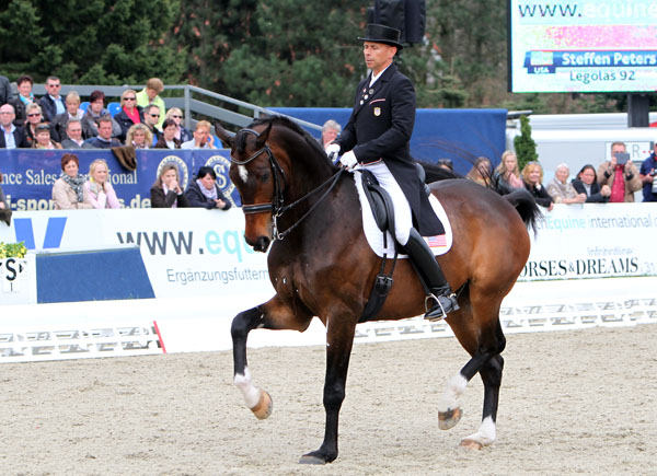 Legolas ridden by Steffen Peters. © 2013 Ken Braddick/dressage-news.com
