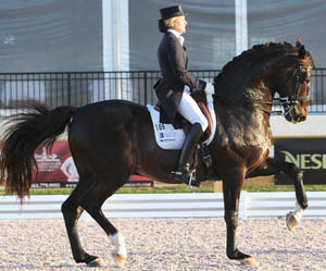 Tina Konyot and Calecto V. © Ken Braddick/dressage-news.com