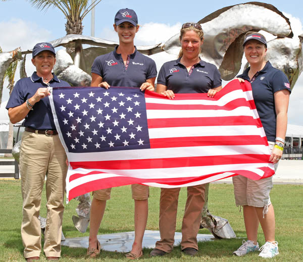 United States I (Heather Blitz absent). © 2013 Ken Braddick/dressage-news.com